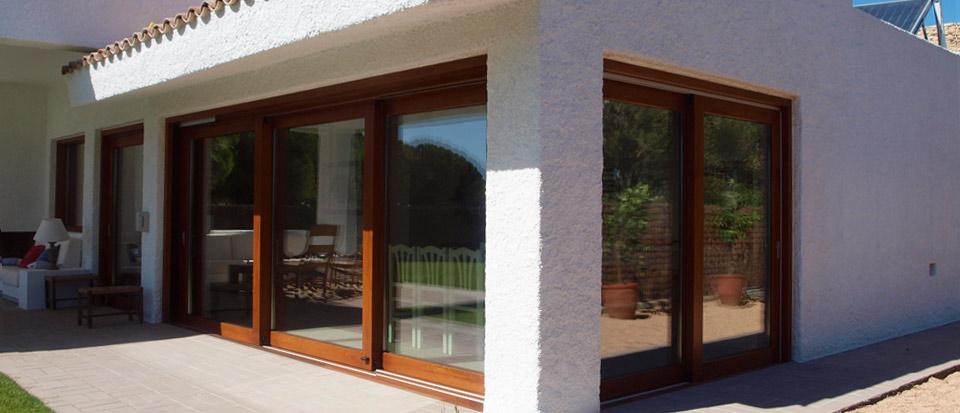 Nuevo proyecto ventanas de madera catalogo puertas de for Puertas correderas comedor